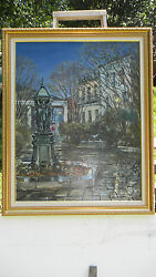 Original Oil Painting Of The French Quarter/vieux Carreand039 New Orleans La