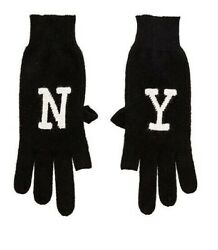 New 360 100 Cashmere Black And White Ny Texting Gloves Nwt