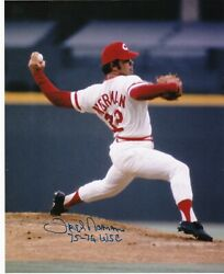 Fred Norman Cincinnati Reds 75-76 Ws Champs Action Signed 8x10