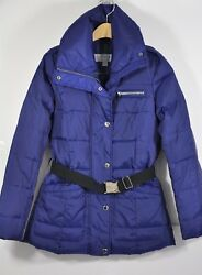 Women's Marc New York, Belted Miner Clo Down Jacket. Size Xs, 247- Shawl Collar