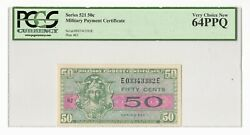 Series 521 Mpc 50andcent Us Military Payment Certificate Pcgs Very Choice New 64ppq