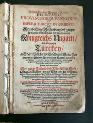 1685 Extremely Rare DELINEATIO PROVINCIARUM PANNONIAE - Johann Christoph Wagner