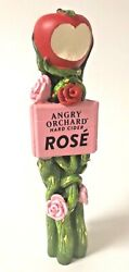 """Angry Orchard Rose Apple Cider Tap Handle - New In Box And Free Ship - 8"""" Short"""