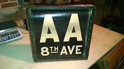 Ny Nyc Subway Roll Sign Box A Gg 8th Times Square Fulton Houston Brooklyn Queens