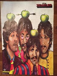 The Beatles Original Vintage Poster By A Pagowski Rare Green Apple Group Shot