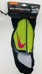 New Nike Protegga Flex Shin Guards Adult Sz M Volt Soccer Football Sp0313 702