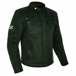 Oxford Hardy Vintage Wax Waxed Cotton Motorcycle Jacket - Olive