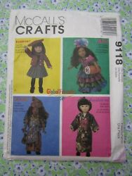 Mccalls Pattern 9118 Global Friends Collectible 18 Doll Clothes Uncut