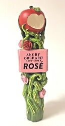 Angry Orchard Rose Apple Cider Tap Handle - New In Box And Free Ship - 11 Tall