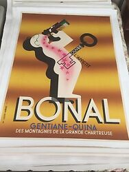 Original 1935 A M Cassandre Bonal Apperitife Ad Highly Sought After Poster Exc