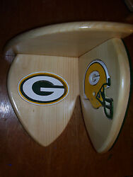 Bobble Heads Green Bay Packers Corner Shelf For Collectibles Hand Crafted Pine