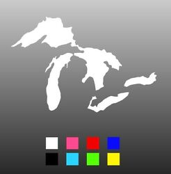 1270 X Pieces Great Lakes Die Cut Window Sticker Decal - Multiple Colors Mix