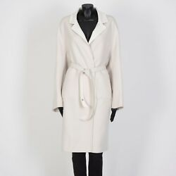 Loro Piana 6275 Melvin Reversible Cocoon Coat In Earl Grey/white Cashmere