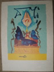 Salvador Dali The Resurrection Lithograph S/n On Rice Paper