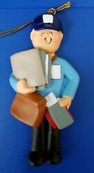 You Can Personalize Letter Male Mailman Mail Carrier Postal Christmas Ornament