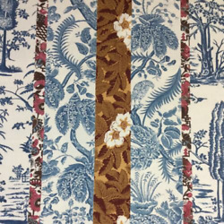 Travers And Co. And039cramwell Toileand039 Hand Print Linen 7.5 Yds Fabric Msrp 220y Wow