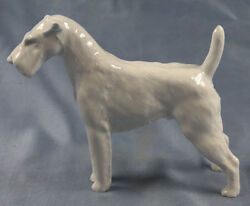 terrier porcelain Meissen dog airdale figurine porcelainfigurine Oehme 1957