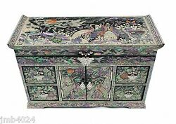 Lacquer Ware Inlaid New Mother Of Pearl Handcrafted Jewelry,jewel Box Gift 2091