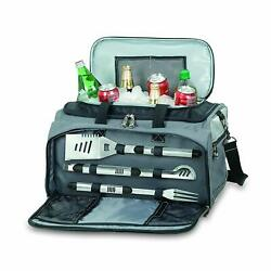 Tailgating Grill Cooler Set Bbq Grill And Utensils Set Package Camping Hunting