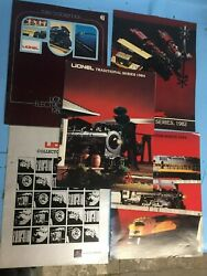Lionel Catalogs Lot Of 5 - 1980 1982 1983 And Two 1984 Both Different