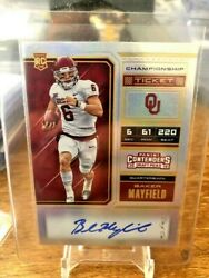 2018 Panini Contenders Baker Mayfield Rookie CHAMPIONSHIP Ticket Auto 11 Browns