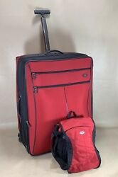"""Victorinox Werks Red Set 13"""" Tote And 27 Expandable Upright Suitcase Luggage"""