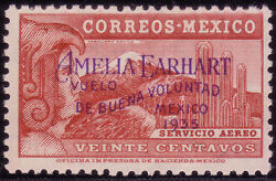 Mexico 1935 Amelia Earhart | C74 | Rare | 430 Copies Exist | Mnh And Signed