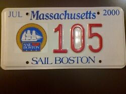 Low Sail Boston 2000 Tall Ships Massachusetts License Plate-collectible Only