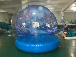 New Giant Inflatable Snow Globe. Holiday Attraction. Photo Op, Party Rental