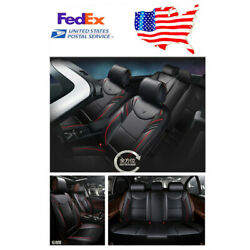Breathable Luxury PU 6D Car Cushion Seat Covers Full Surrounded Front&Rear
