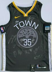 2018-19 GOLDEN STATE WARRIORS TEAM SIGNED JERSEY STEPHEN CURRY DURANT KLAY JSA *