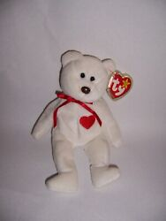 Mint Condition Ty Beanie Baby Valentino Bear With Errors On Tag Rare 1993/1994