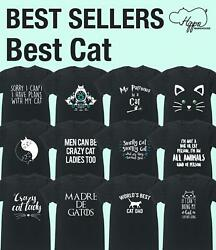 Best Cat unisex t-shirt Funny Gift Present Novelty Animal Pet Lover Fur Joke