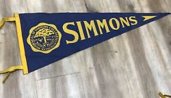 SIMMONS COLLEGE BOSTON VINTAGE 1950s COLLEGE SEAL PENNANT