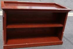 Fabulous Custom Made Double Sided Book Case With Vitrine Display Top - Majestic