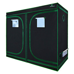 GA Grow Tent94x48x80 Reflective Mylar Hydroponic Grow Tent with Observation and