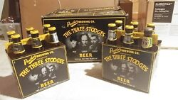 Vintage Panther Brewing Co 3 Stooges Beer Box w 2 6pk Matching Bottles