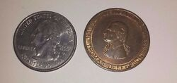 Long Tom Sage Of Monticello - Thomas Jefferson Scoville Token With Facts