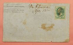 1870s Plants And Seeds Factoryville Pa Advertising Dpo La Plume Pa M/s Cancel