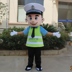 Safe Adversting Suit Traffic Police Mascot Costume Dress Parade Boy Adult Outfit