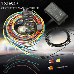12-14 Circuit Universal Wiring Harness Muscle Car Hot Rod Street Rod Xl Wires
