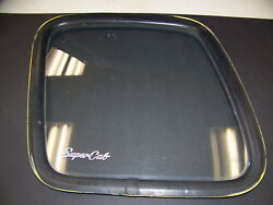 1978 Ford Super Cab Rear Side Glass Windows And Gaskets Oem Pair