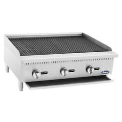 Atosa Atcb-36 36 Heavy Duty Countertop Gas Charbroiler With Lava Rocks