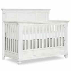 Evolur Signature Cape May 5 In 1 Full Panel Convertible Crib In Weathered W...