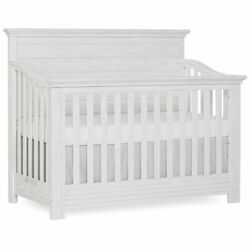 Evolur Waverly 5 In 1 Full Panel Convertible Crib In Weathered White