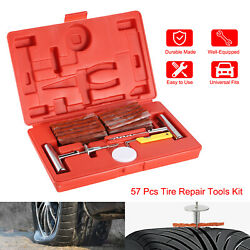 Universal 57pc Heavy Duty Kit Flat Tire Repair Tools Flat Puncture For Car Truck