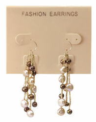 Hanging Tan Plastic Earring Cards 300 2 1/2 X 2 J- Channel Display Card Hang