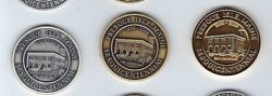 2009 Presque Isle Maine Medal 3 Pcs. Set .999 Silver Gold Plate And Bronze