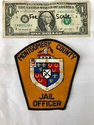 Rare Montgomery County Maryland Police Patch Jail Officer Un-sewn Great Shape