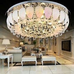 LED K9 Crystal Lamp Ceiling Light Fixtures Home Chandelier Bulbs Bedroom Light